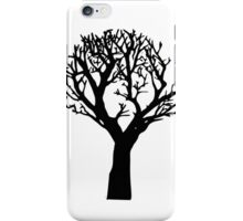Beautiful silhouette of a tree iPhone Case/Skin