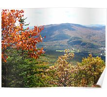 The Mountains in Autumn Poster