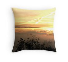 Trees in the Morning Mist Throw Pillow