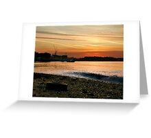Thames Sunset Greeting Card