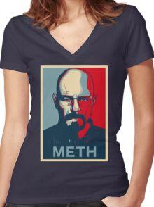 Walter White METH poster Women's Fitted V-Neck T-Shirt