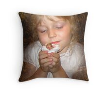 Mommy, can we keep it? Throw Pillow
