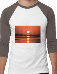 Sanibel Island sunrise Men's Baseball ¾ T-Shirt