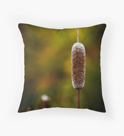 Autumn Cattail Throw Pillow