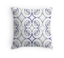 Sterling Roses Throw Pillow
