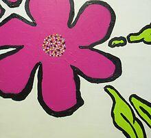 Pop Art Pansy by Maria Bonnier-Perez