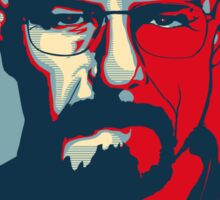 Walter White COOK hope poster Sticker