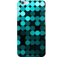 Modern Turquoise Dots Pattern iPhone Case/Skin