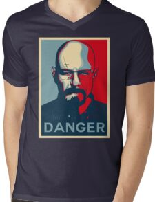 Walter White DANGER hope poster Mens V-Neck T-Shirt