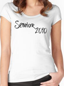 senior 2010 Women's Fitted Scoop T-Shirt