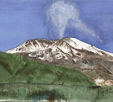 Mount St. Helens eruption 2004 by Pete Janes