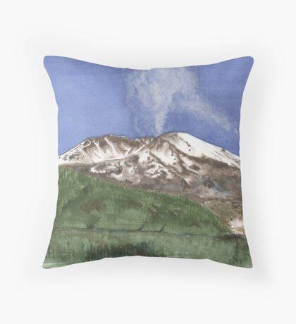 Mount St. Helens eruption 2004 Throw Pillow