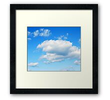 Cloudy with a Chance of Meatballs Framed Print