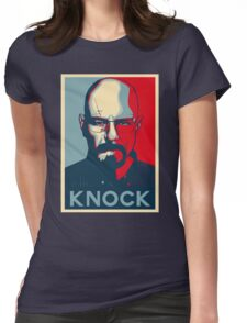 Walter White KNOCK hope poster Womens Fitted T-Shirt