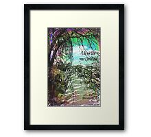 In a Spiritual Place / homage to Gandhi  Framed Print