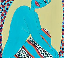 VIVID BLUE SIREN by JaneAParis