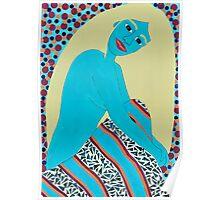 VIVID BLUE SIREN Poster