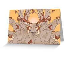 Stag in nature Greeting Card