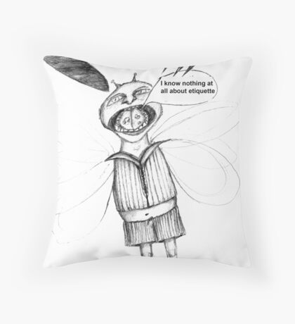 Bad manners Throw Pillow