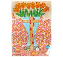 EIGHT BLEEDING TULIPS Poster
