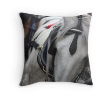 Bored Horse Throw Pillow