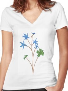 Blue orchids Women's Fitted V-Neck T-Shirt