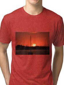 sunrise over Mantanaz Pass Harbor Tri-blend T-Shirt