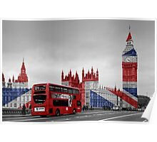 Big Ben and Union Jack Poster