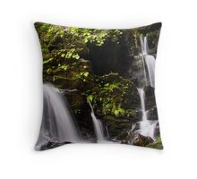 white and water Throw Pillow