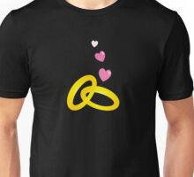 GOLD wedding rings (engagement or for a proposal) Unisex T-Shirt