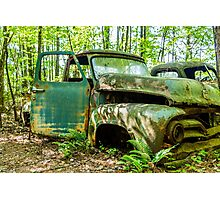 Old Green Truck Photographic Print