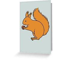 Red Squirrel with Nut Greeting Card