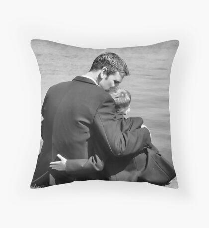 Father & Son Throw Pillow