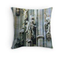 Duomo di Milano, Wall Sculptures. Lombardia, Italy. 2008 Throw Pillow