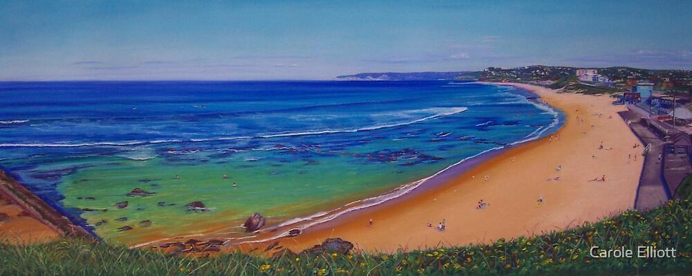 Bar Beach, Newcastle, NSW, Australia by Carole Elliott