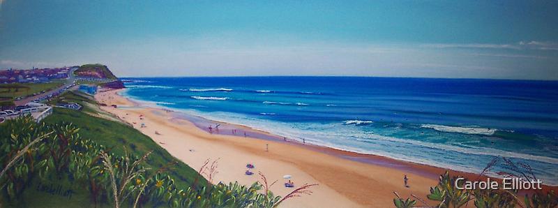 View to Bar Beach, Newcastle, NSW, Australia by Carole Elliott