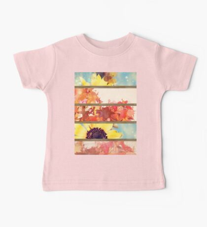 romantic impressionism art watercolor leaves sunflower Baby Tee