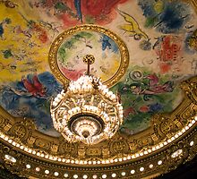 Ceiling painted by Marc Chagall - Opera Garnier by parischris