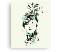 20's Beauty Greeting Card Canvas Print