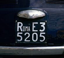 Rome Licence Plate, Italy  by Petr Svarc