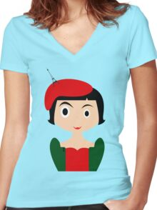 Amelie Women's Fitted V-Neck T-Shirt