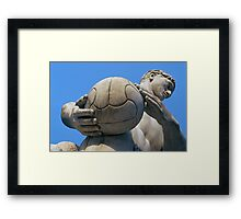 Football Player Statue, Foro Italico, Italy  Framed Print