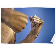 Statue at Foro Italico (Stadio dei Marmi) in Rome Poster