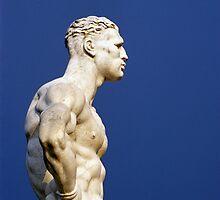 Statue at Foro Italico (Stadio dei Marmi) in Rome by Petr Svarc