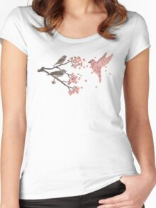Blossom Bird  Women's Fitted Scoop T-Shirt