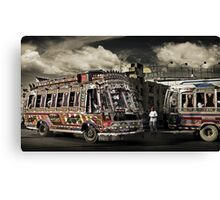 (catching) The Bus #0301 Canvas Print