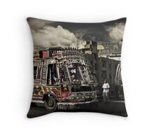 (catching) The Bus #0301 Throw Pillow