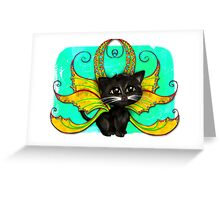 Fantasy Fairy Cat Greeting Card