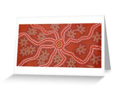 Women Bush Tucker Gathering  by Australian Aboriginal Artist David Williams Greeting Card