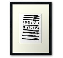 Nobody Said It Was Easy, Mascara Wands Framed Print